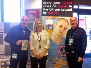 Staff from Doncaster Council Public Health and Doncaster Drug and Alcohol Services at Doncaster Jobcentre Plus.