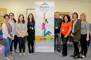 Aspire staff pictured at the Bentley Hub