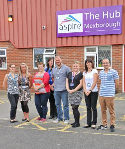 Aspire staff pictured at the Mexborough Hub