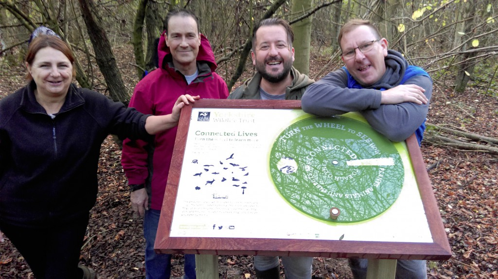 Staff and service users from New Beginnings at Potteric Carr Nature Reserve.