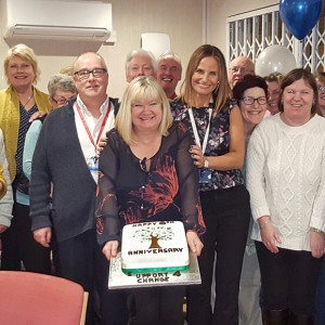 The Support 4 Change Carers' Group at their sixth anniversary celebrations.