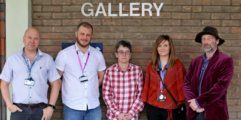 Celebrating the launch of Aspire Drug and Alcohol Services at Doncaster Museum, from left to right: Stuart Green, Neil Firbank, Michaela Jones, Sally Hickson-Clark and Tim Young.
