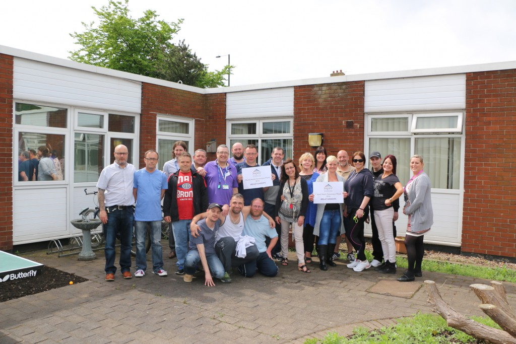 Service users and staff from Aspire and RDaSH who attended the Mental Health Awareness Week event.