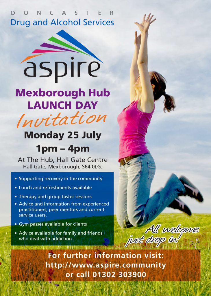 Poster for Mexborough launch event