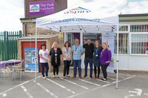 Aspire's Stainforth Hub team pictured at its recent launch.