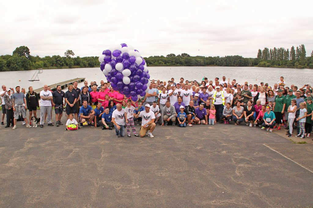 Competitors and supporters of the 2015 Recovery Games pictured before the event.