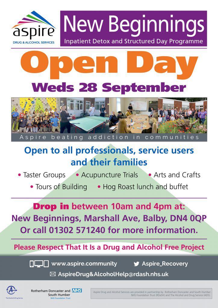 New Beginnings Open Day poster