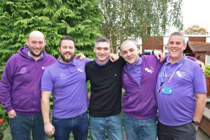 Aspire peer mentors pictured at the event