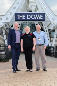(From left to right): Jon Whitely and Toni Illman of DCLT pictured with Stuart Green of Aspire.