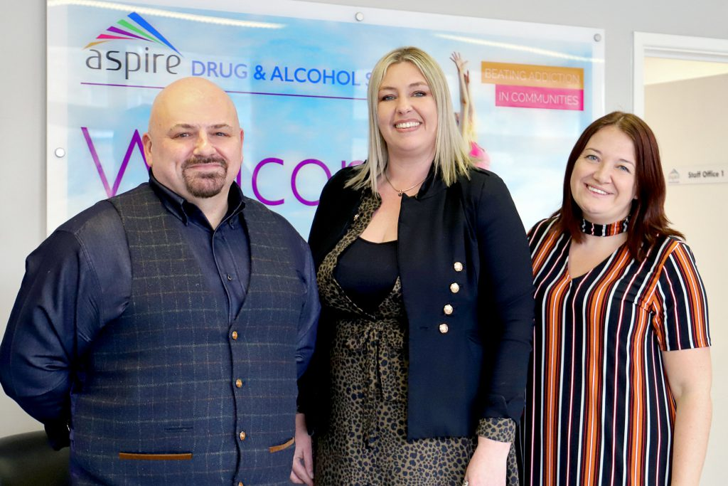 (Left to right): Kevin Westwood, Lead Clinical Director Clouds Community Counselling Service; Annmarie Helgesen, Associate Practice Manager Clouds; and Laura Jarvis, Aspire Team Leader.